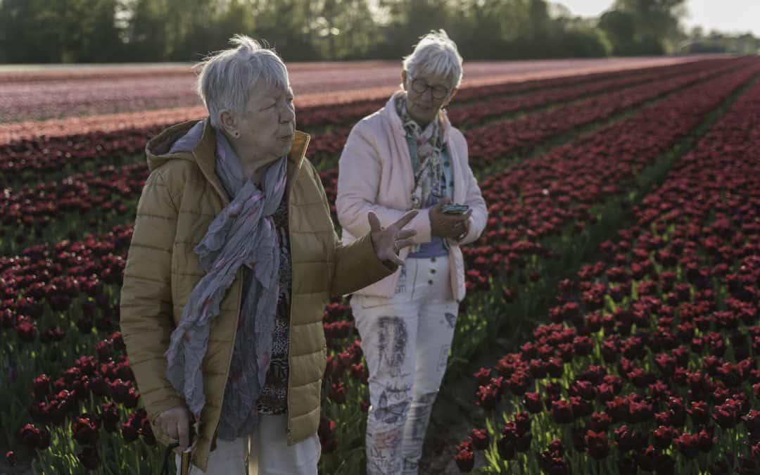 Tulpenvelden met ma de J en ma V